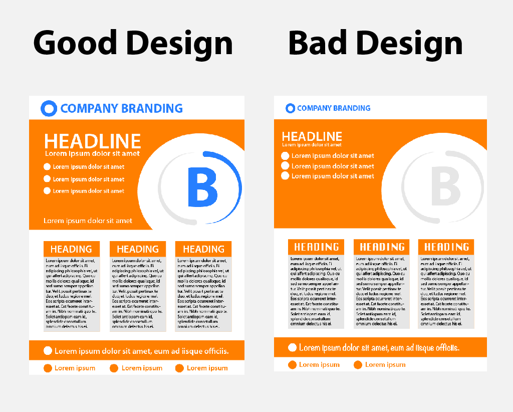 examples of good and bad graphic design
